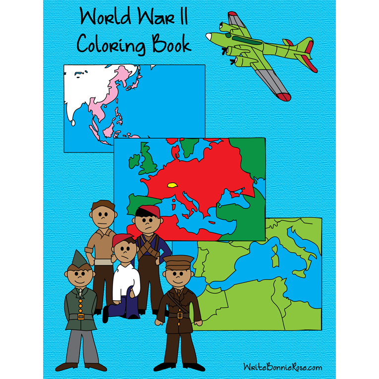 World War II Coloring Book (e-book)