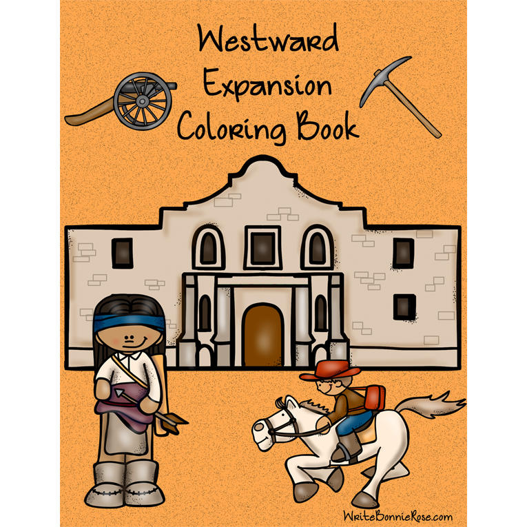 Westward Expansion Coloring Book (e-book)