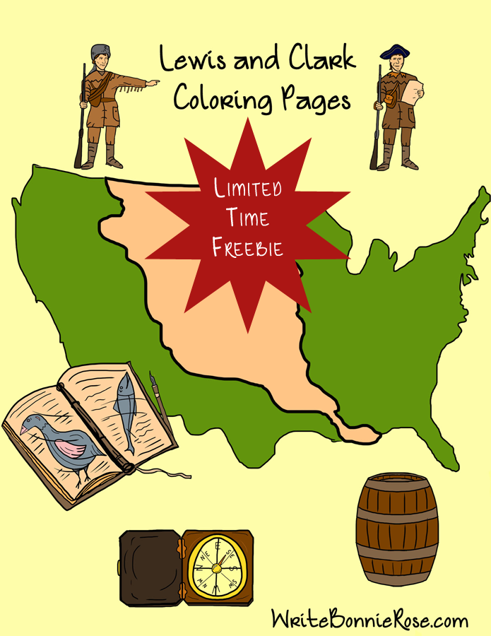 FREE Lewis and Clark Coloring Book - Limited Time - WriteBonnieRose.com