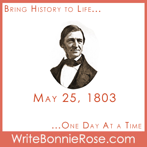 Timeline Worksheet, May 25, 1803, American Author Ralph Waldo Emerson