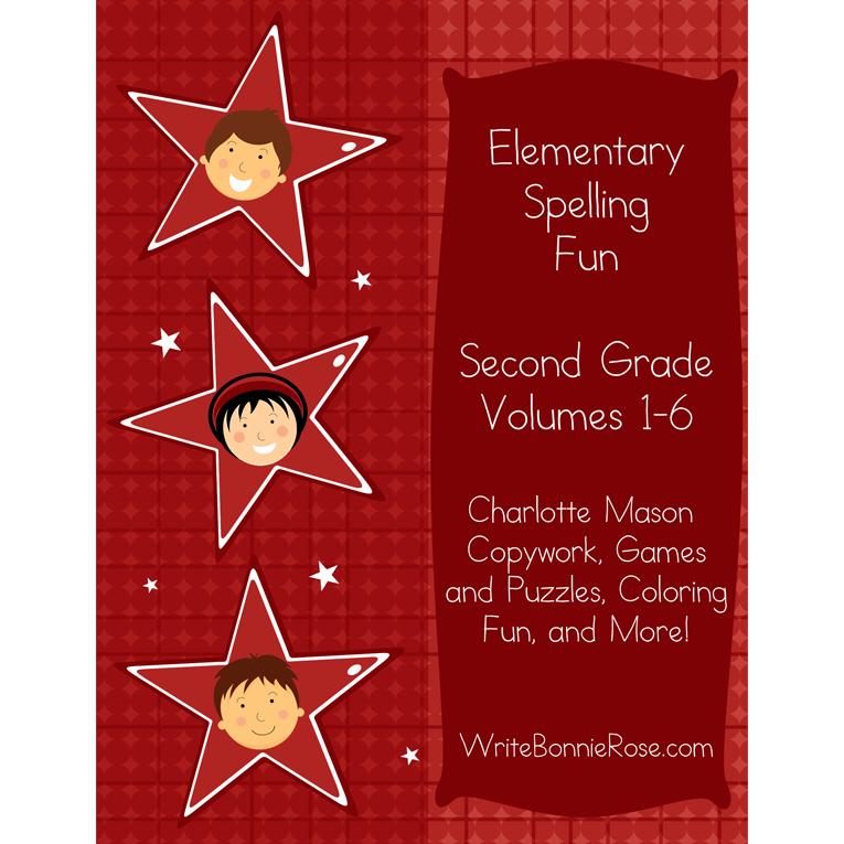 Elementary Spelling Fun Second Grade Vol. 1-6 (e-book)