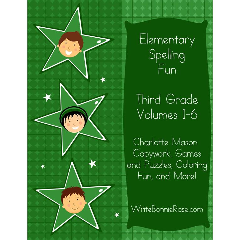 Elementary Spelling Fun Third Grade Vol. 1-6 (e-book)