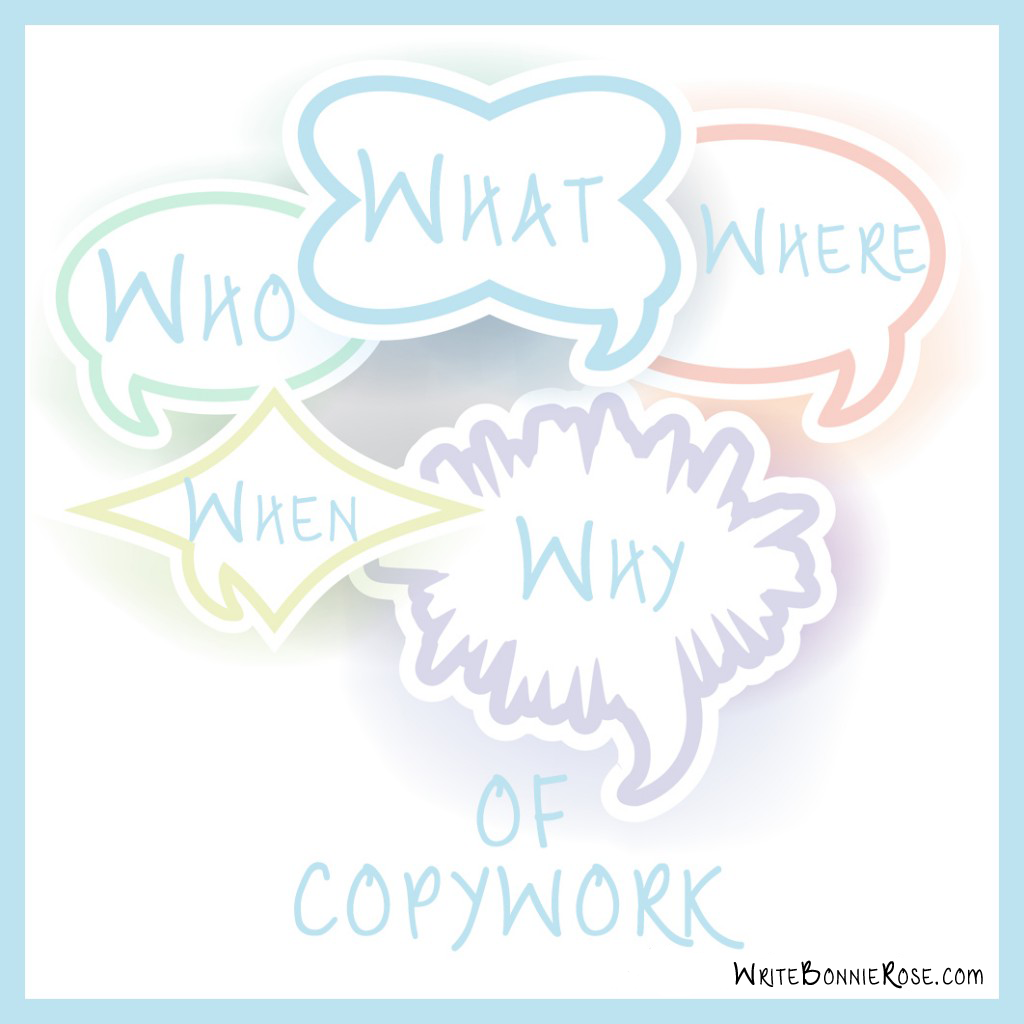 Who What Where When and Why of Copywork