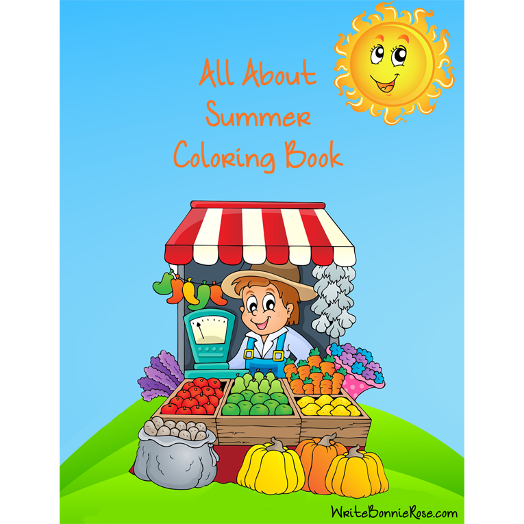 All About Summer Coloring Book (e- book)