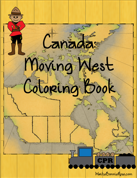Canada Moving West Coloring Book