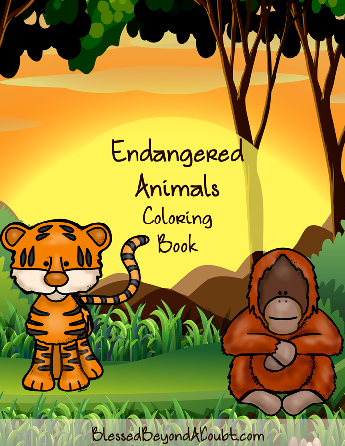 FREE Endangered Animals Coloring Book