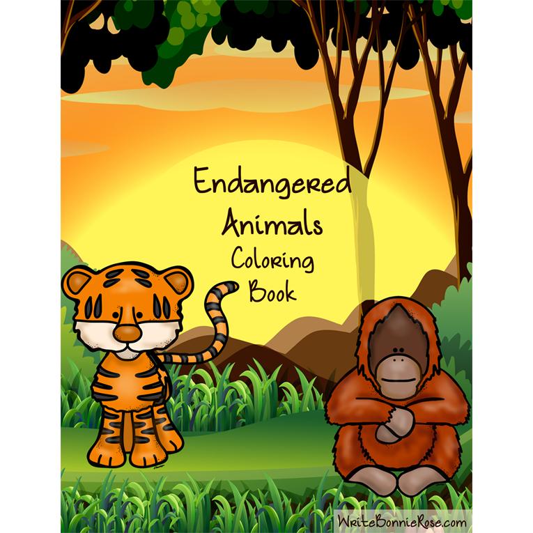 Endangered Animals Coloring Book (e-book)