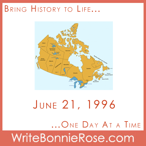 Timeline Worksheet June 21, 1996, Canada Aboriginal Day