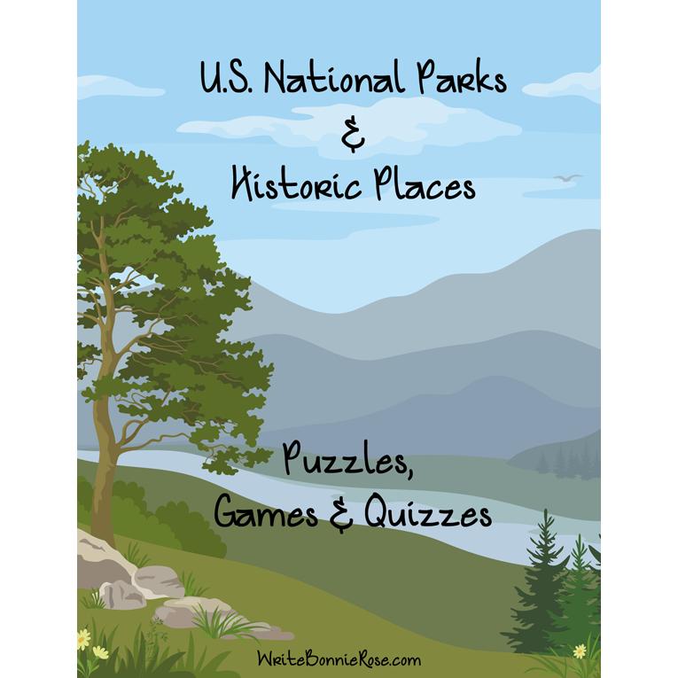 U.S. National Parks & Historic Places: Puzzles, Games, & Quizzes (e-book)