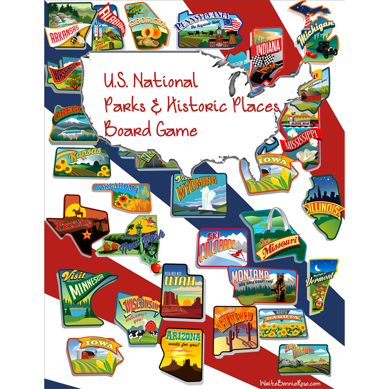 U.S. National Parks & Historic Places Board Game (e-book)