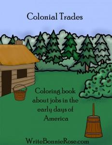 Colonial Trades Coloring Book
