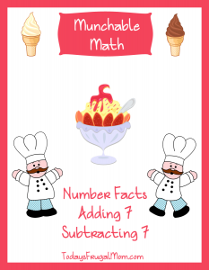 Elementary Math Worksheets-Munchable Math Ice Cream