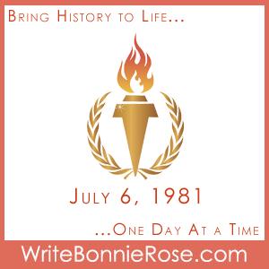 Timeline Worksheet, July 6, 1981, Nicole Kantek Olympic Gymnast