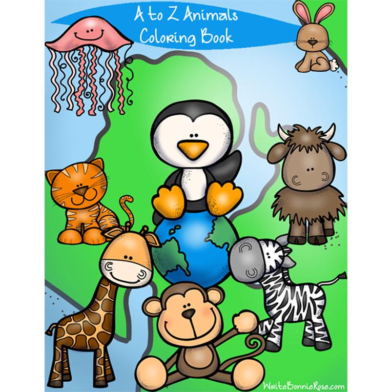 A to Z Animals Coloring Book (e-book)
