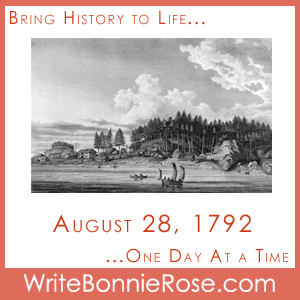 August 28, 1792, Historic day in Nootka Sound, British Columbia