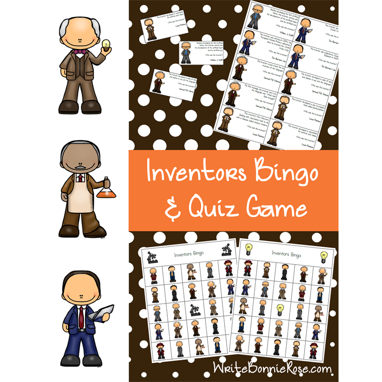 Inventors Bingo & Quiz Game (e-book)