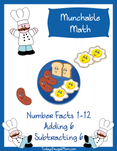 Elementary Math Worksheets-Munchable Math Breakfast