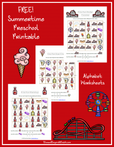 Summer-Themed Preschool Letter Pack