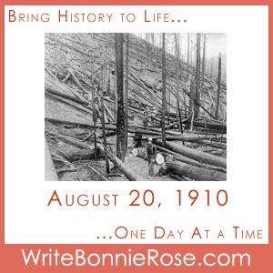 Timeline Worksheet, August 20, 1910, Emergency Preparedness Crossword