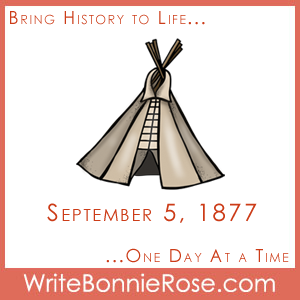 Timeline Worksheet: September 5, 1877, Crazy Horse Copywork