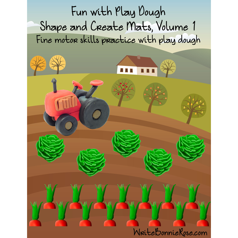 Fun With Play Dough, Shape and Create Mats, Volume 1 (e-book)