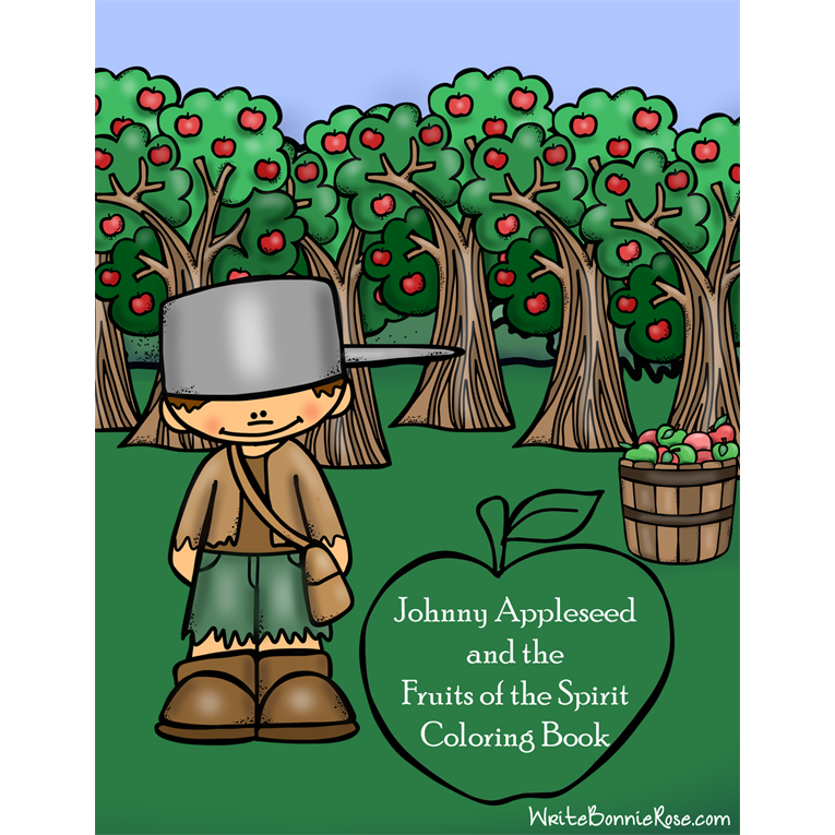 Johnny Appleseed and the Fruits of the Spirit Coloring Book (e-book)