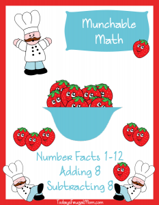 FREE Elementary Math Worksheets-Munchable Math Strawberries