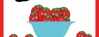 Free Elementary Math Worksheets-Munchable Math on Todays Frugal Mom-Strawberries
