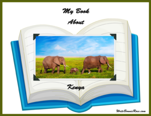 Free Geography Copywork My Book About Kenya with Print Copywork