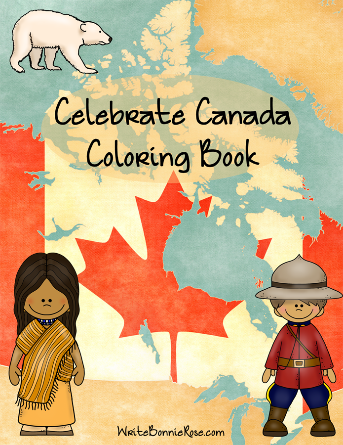 Celebrate Canada Coloring Book Cover sm