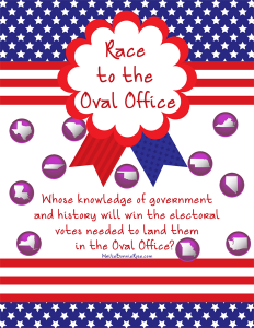 Race to the Oval Office Printable Board Game