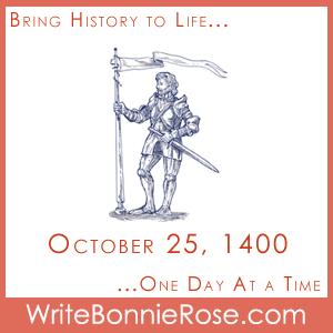 Timeline Worksheet: October 25, 1400, Geoffrey Chaucer Copywork