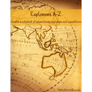Explorers A-Z Notebooking Cover for WBR
