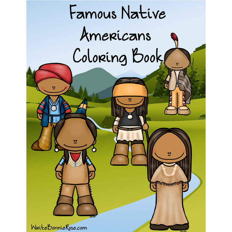 Famous Native Americans Coloring Book (e-book)