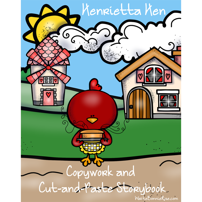 Henrietta Hen Copywork and Cut-and-Paste Storybook (e-book)