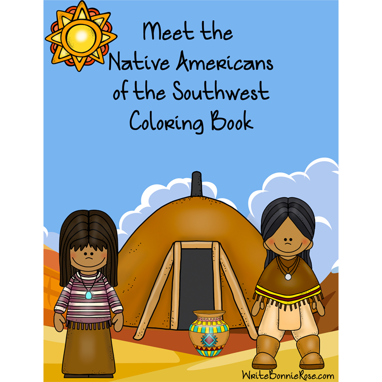 Meet the Native Americans of the Southwest Coloring Book (e-book)