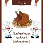 Free Elementary Math Worksheets-Munchable Math Turkeys