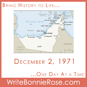 Timeline Worksheet: December 2, 1971, United Arab Emirates