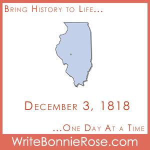 Timeline Worksheet December 3, 1818, Illinois State History Printable