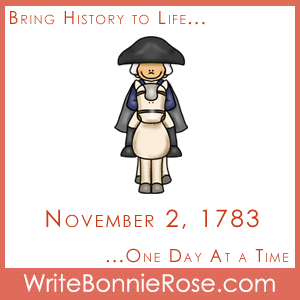 Timeline Worksheet November 2, 1783, Washington Farewell Address