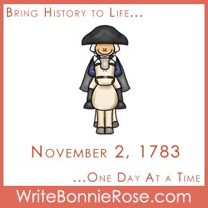 Timeline Worksheet: November 2, 1783, George Washington's Farewell Address Copywork