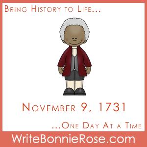 Timeline Worksheet November 9, 1731, Benjamin Banneker Timeline