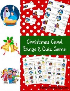 Christmas Carol Bingo and Quiz Game