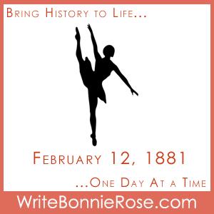 Timeline Worksheet February 12, 1881, Anna Pavlova