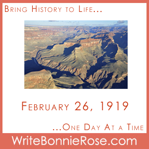 Timeline Worksheet: February 26, 1919, Grand Canyon