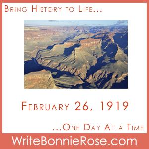 Timeline Worksheet February 26, 1919, Grand Canyon