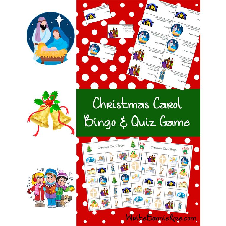 Christmas Carol Bingo & Quiz Game (e-book)