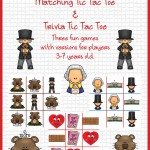 February Holiday Matching Tic Tac Toe and Trivia Tic Tac Toe