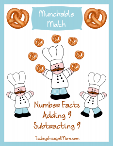 Free Elementary Math Worksheets: Munchable Math-Pretzels