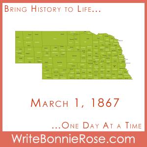 Timeline Worksheet, March 1, 1867, Nebraska Statehood